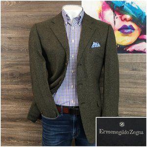 Ermenegildo Zegna Sport Coat Blazer Cashmere Silk